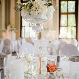 ART Decorations: Hochzeit - Elegant - Apricot/Orange/Eukalyptus 5